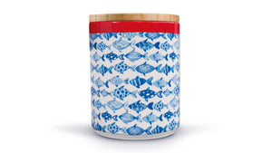 "Porcelain Canister With Wooden Lid ""Fish"", KITCHENWARE, REMEMBER®, - Fabrica"