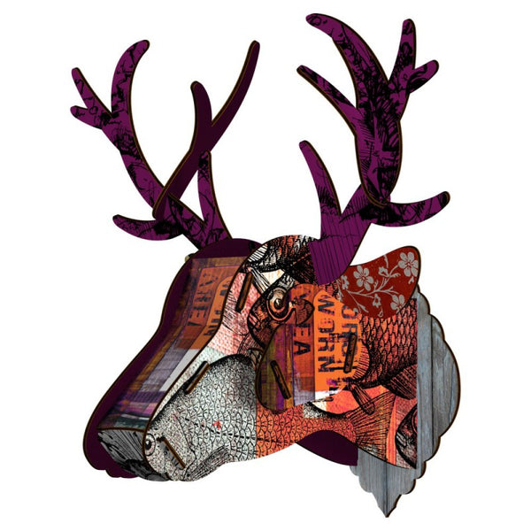 Trophy Deer  - Purple Branch, HOME DECOR, MIHO UNEXPECTED, - Fabrica