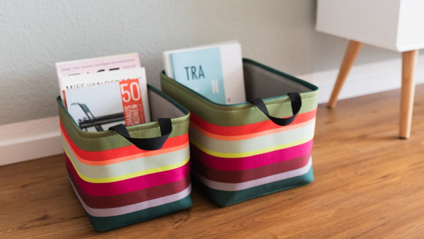 STORAGE BASKETS SET OF 3 AURA