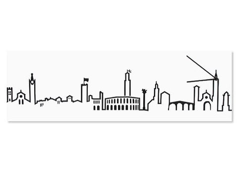 Skyline Verona White Wall Clock, HOME DECOR, PROGETTI, - Fabrica