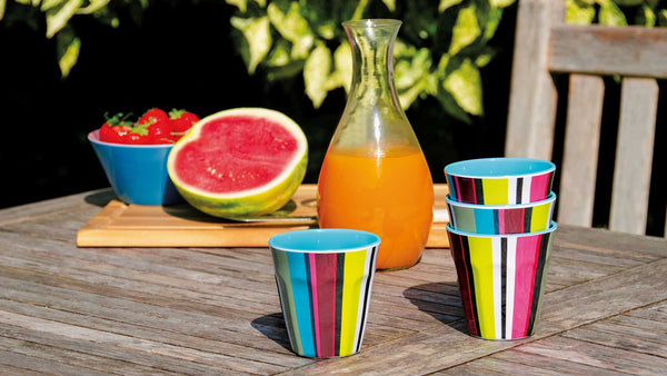 "Melamine Cups ""Verano"" (set of 4), KITCHENWARE, REMEMBER®, - Fabrica"