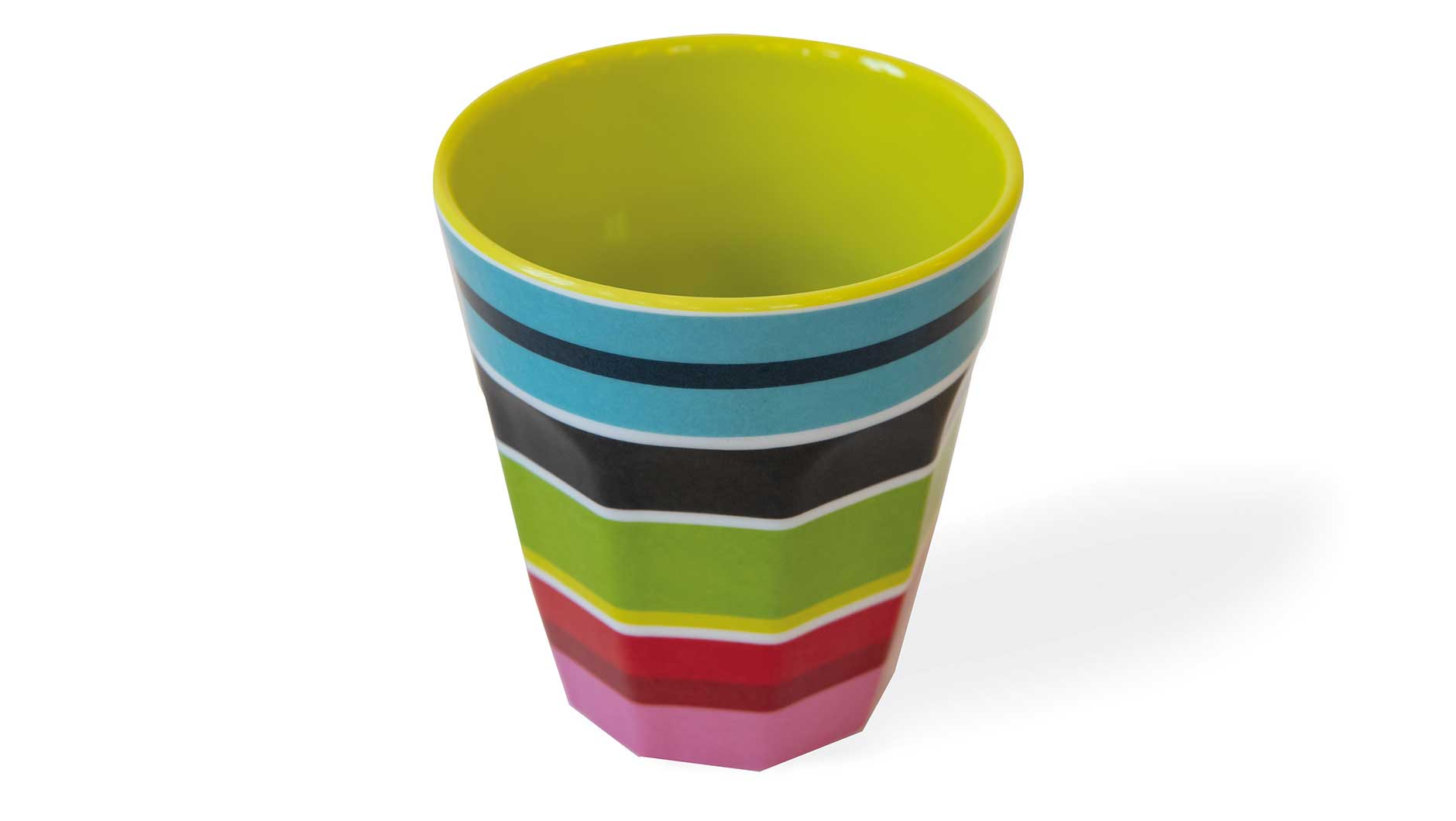 "Melamine Cups ""Stripy"" (set of 4), KITCHENWARE, REMEMBER®, - Fabrica"