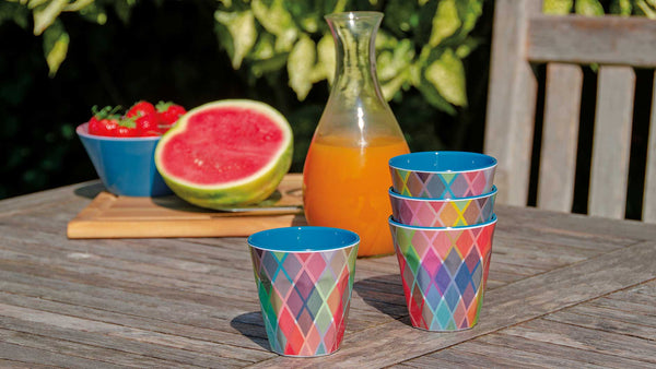 "Melamine Cups ""Etienne"" (set of 4), KITCHENWARE, REMEMBER®, - Fabrica"