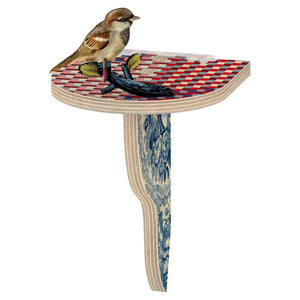 Wooden Shelf Medium with Bird- The Outsider, HOME DECOR, MIHO UNEXPECTED, - Fabrica