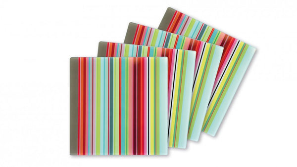 GLASS COASTER STRIPES SET OF 4