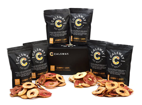 150 Calories Grandpa's Apple & Cranberries Crisps by Calsway (Pack of 6)