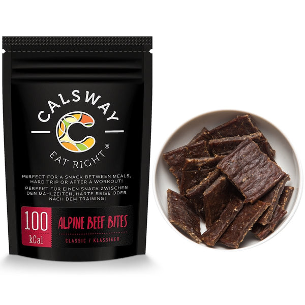 (Pack of 6) 100 Calories CLASSIC Taste ALPINE BEEF JERKY BITES by Calsway