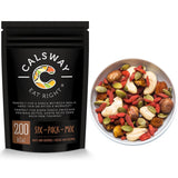 (Pack of 6) 200 Calories Protein-rich Nuts and Berries Mix for your SIX-PACK by Calsway - Cashews, Hazelnuts, Physalis, Goji, Pumpkin Seeds