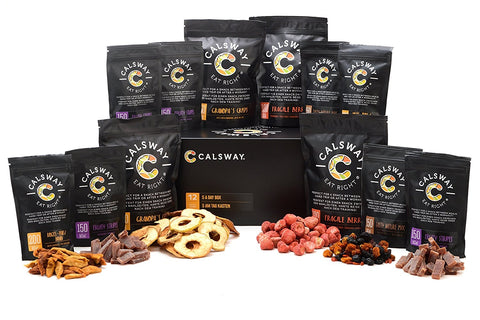 (Pack of 12) 5 A DAY Set (2018) - the Box of Assorted Fruits and Berries Vegan Snacks by Calsway