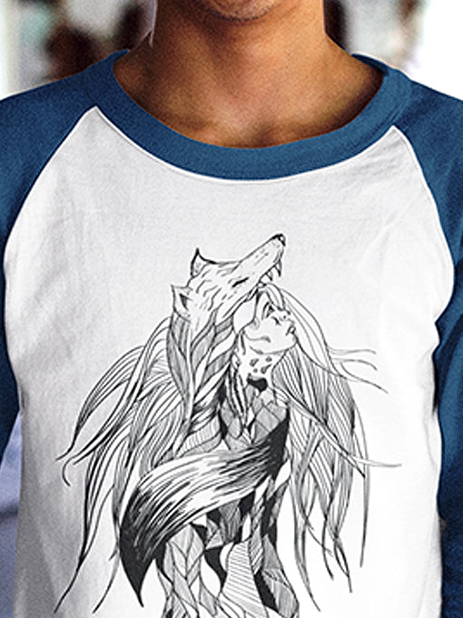 Long Sleeve Wolf & Woman
