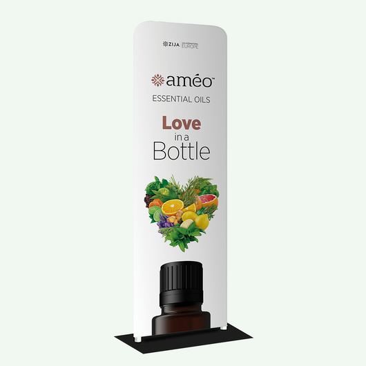 Améo® Fabric Tube Stand Banner