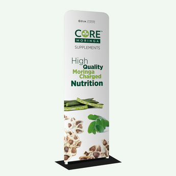 Core Moringa® Fabric Tube Stand Banner