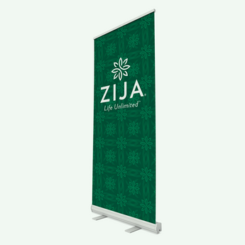 Zija Event Banner - Dark Green Pattern
