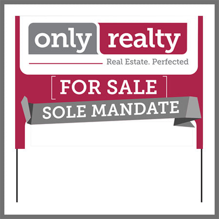 Sole Mandate For Sale Board