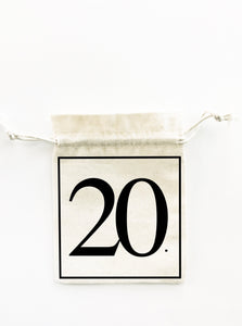 20th Birthday 5x Pack Party Favours Drawstring Bags