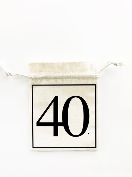 40th birthday favour bag