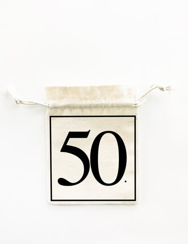 50th birthday party bag