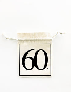 60th birthday party bag bigoudi bigouda