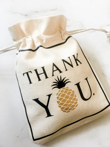thank you pineapple gift bag tropical party bigoudi bigouda