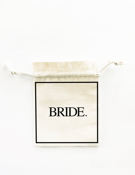 BRIDE. GROOM. 2x Pack Drawstring Bags