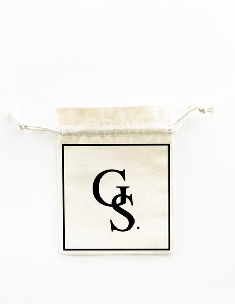 INITIALS. 5x Pack Party Favour Drawstring Bags