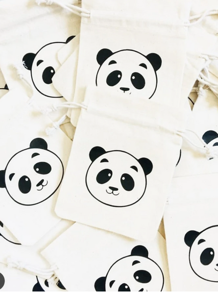 panda party supply gift bag bigoudi bigouda