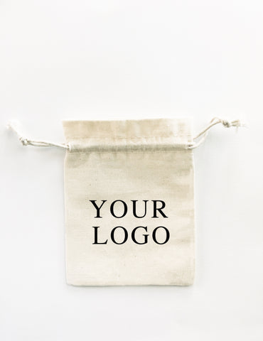 logo bags packaging with drawstrings