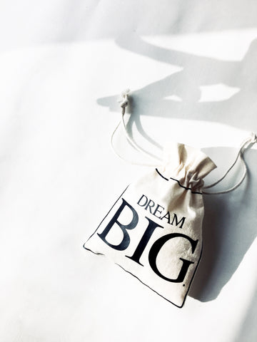 DREAM BIG. 5x Pack Party Favour Drawstring Bags