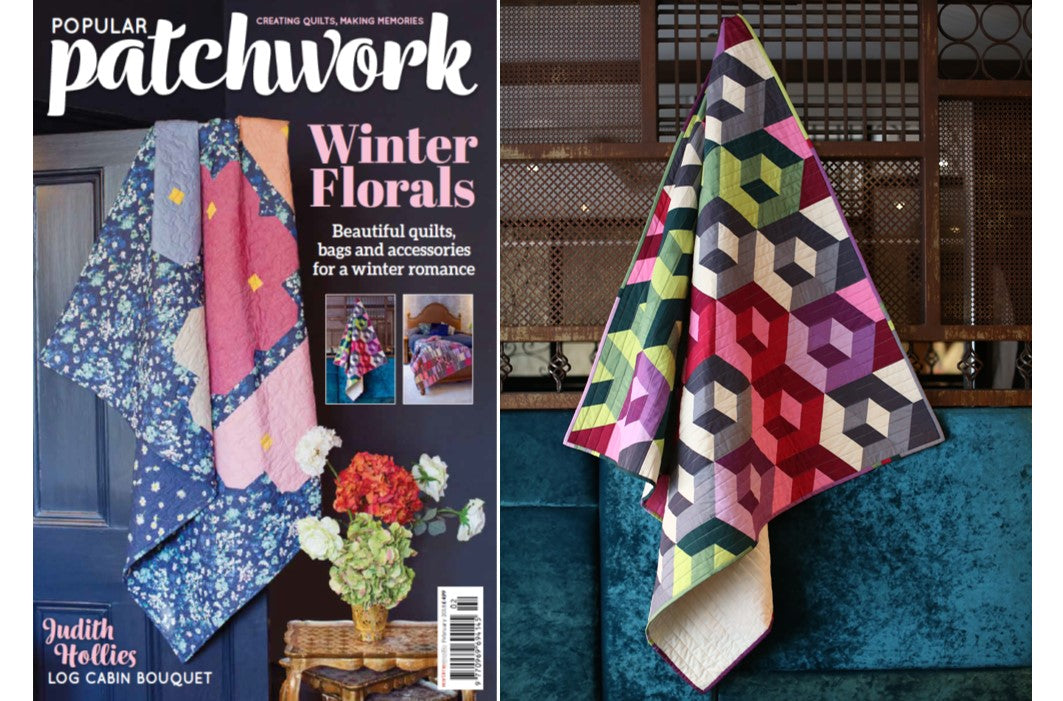 Cubitz Quilt in Popular Patchwork magazine