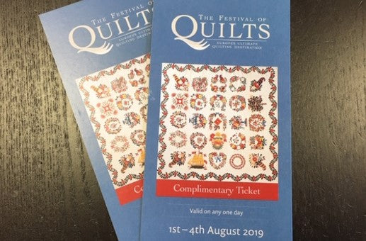 Festival of Quilts ticket Giveaway