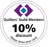Quilters' Guild 10% discount