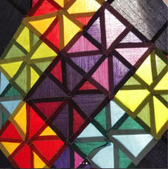 Modern Amish Mini Quilt by Sarah Ashford