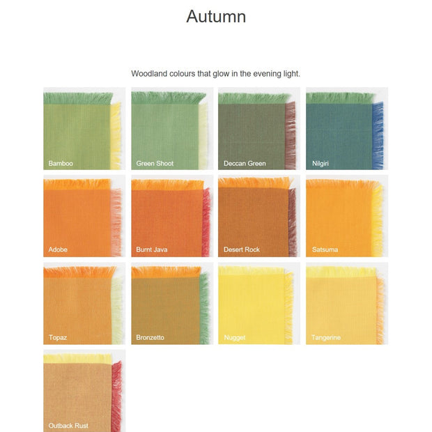 "Autumn 5"" Charm Squares 12 Colours"