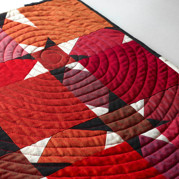 Charming Stars Ruby Reds Mini Quilt