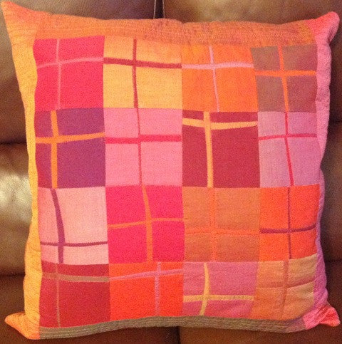 Modern Crosses Cushion by Heather Hasthorpe