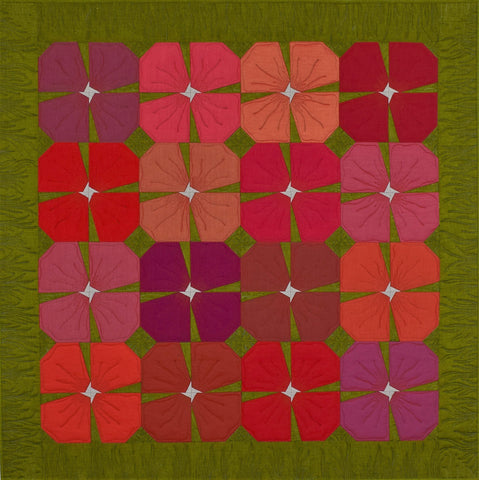 Flower Bed Quilt by Monika Huelsebusch