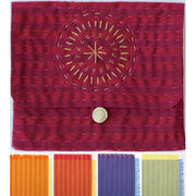 "Indian Kantha Purse Pack 'n Pattern, size 4.5"" x 5.25"" / 11 cm x 13 cm"