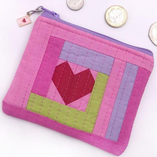 "Love Improv Coin Purse Fabric Pack, size 5"" x 4"" / 13 cm x 11 cm"