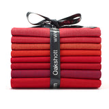 Ruby Reds Fat Quarter Pack 8 Colours