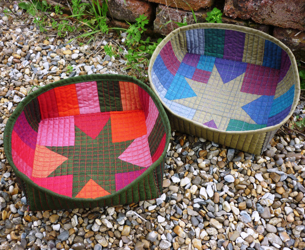 Star Bright Bowls Ruby Reds & Grayshott by Helen Butcher