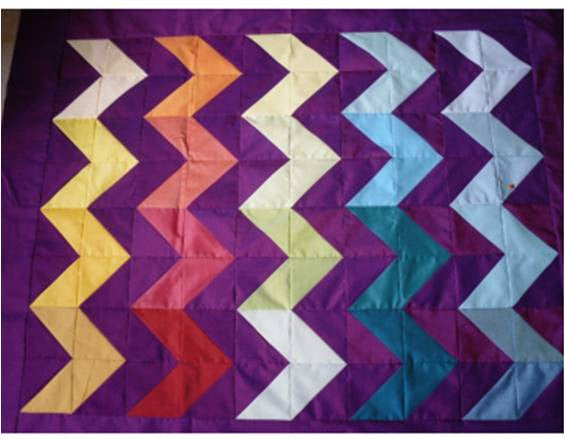 Streak of Lightning Quilt by Valerie Nesbitt
