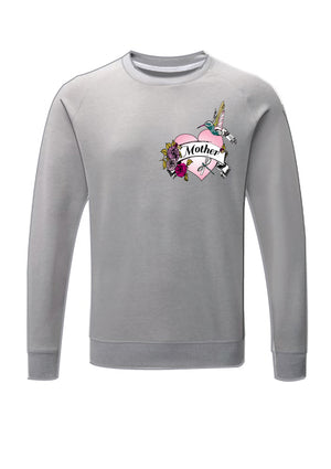'Mother' embroidered tattoo inspired sweatshirt
