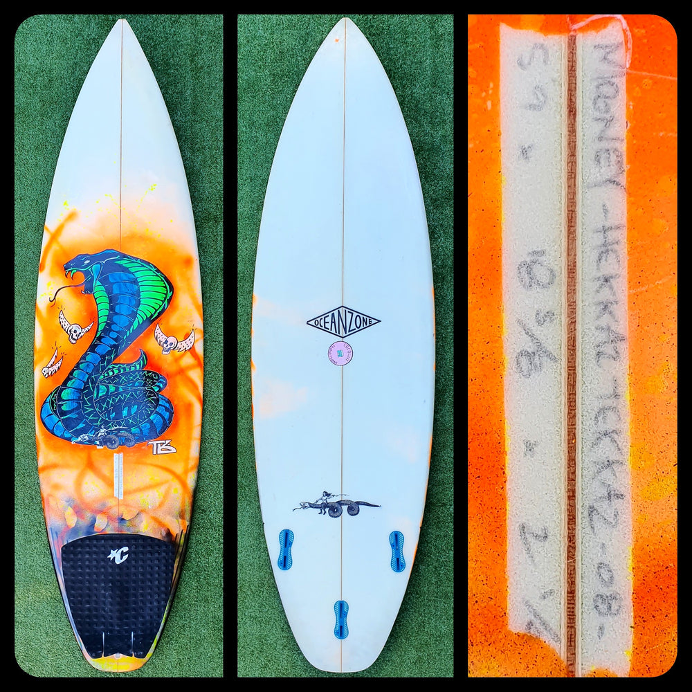 5'9 Serpent Sled Custom with Artwork