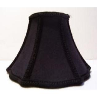 34605 - Large Black Clip-On Lamp Shade With Gold Liningsized 3