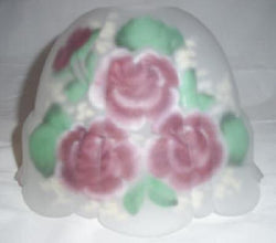 Reverse Painted Roses On Acid Etched Globe