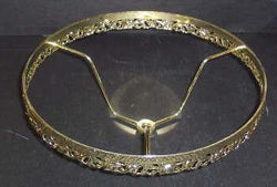 64393 - Brass Plated And Laqurered Filigree Band 10inch For Lamp Shades