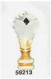 59213 - Cut Crystal Small Finials