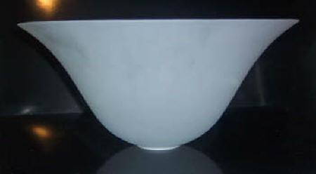 60100 - Crystal Etched Torchiere Lamp Shade 1 5/8