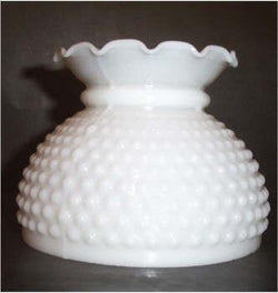 62566 - Hobnail Crimped Glass Lamp Shades