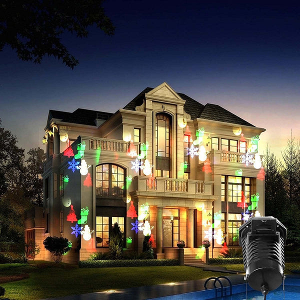 Halloween Christmas Decoration Replaceable Colorful Pattern Lens Projector Light